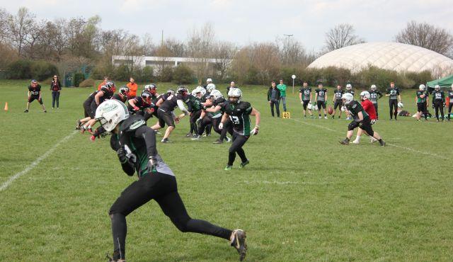 Düsseldorf Panther vs. Mülheim Shamrocks - so lautete das Scrimmage am dritten Tag des Camps